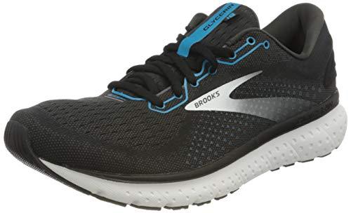 Brooks Mens Glycerin 18 Running Shoe - Black/Atomic Blue/White - 2E - 11