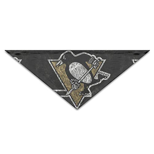 Empty Pittsburgh Logo Penguins Printing Pet Drool Towel Dog Bandanas Triangle Bibs Dog Kerchief Set Scarfs Accessories for Small Large Dogs Cats
