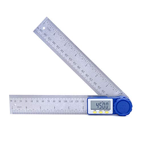 Suncala Digital Angle Finder Protractor with Zeroing and Locking Function, 7-Inch Stainless Steel Angle Finder Ruler