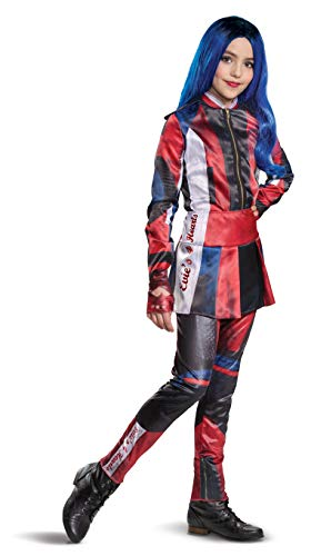 Disguise Disney Evie Descendants 3 Deluxe Girls' Costume, Red, Medium (7-8)
