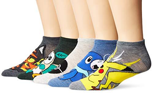 Pokemon Men's 5 Pack No Show Socks