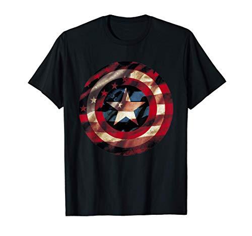 Marvel Captain America Avengers Shield Flag T-Shirt