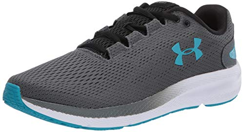 Under Armour Men's Charged Pursuit 2 Running Shoe, Pitch Gray (100)/White, 9.5 M US