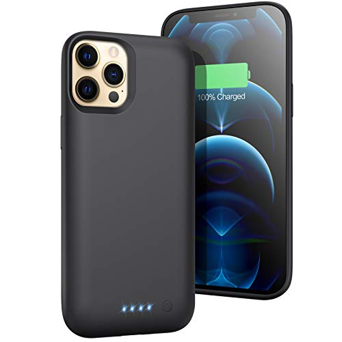 Battery Case for iPhone 12 Pro Max (6.7inch),【7800mah High Capacity】 H H.E.T.P Charging Case Extend 200% Battery Life,Portable Protective Charger Case for Apple iPhone 12 Pro Max