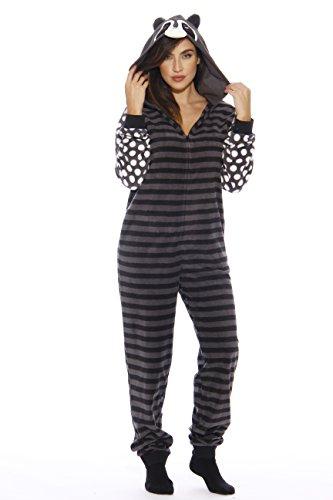 L6400-XS-Raccoon #FollowMe Adult Onesie / Adult Pajamas
