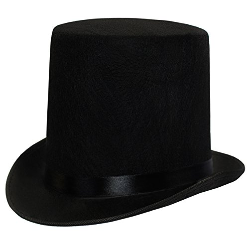 Funny Party Hats Dress up Hats for Adults Costume Party Hats for Men Women Unisex by (Black 7' Top Hat)