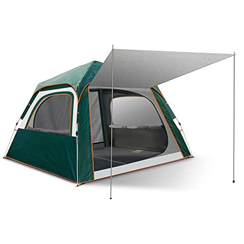 Camping Tent 6 Person Family Tents for Camping Party - Double Large Doors and Windows, for Family, Outdoor, Hiking