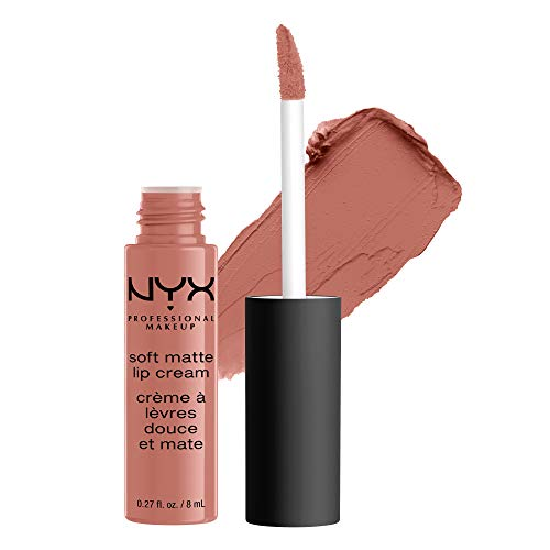 NYX PROFESSIONAL MAKEUP Soft Matte Lip Cream, High-Pigmented Cream Lipstick - San Francisco, Peachy Brown Nude