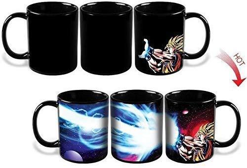 Lomenfly New Dragon Ball Z Goku Saiyan Ceramic Heat Reactive Coffee Mug Cup Gift
