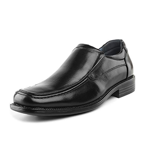 Bruno Marc Men's Goldman-02 Black Slip on Leather Lined Square Toe Dress Loafers Shoes for Casual Weekend Formal Work - 11 M US
