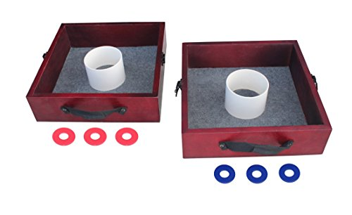 Triumph Premium Washer Toss Game - Includes 2 Felt-Lines Washer Boxes and Steel Washers