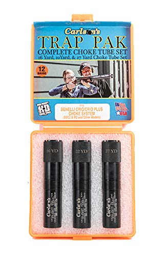 Carlson's Choke Tube Benelli Crio Plus Trap Pack, 12 Gauge, Mod-Full-EF, Black