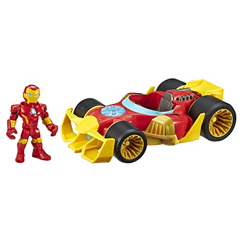 Super Hero Adventures Playskool Heroes Marvel Iron Man Speedster, 5-Inch Figure and Vehicle Set, Collectible Toys for Kids Ages 3 and Up
