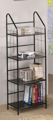 Metal Storage Shelf Rack 4 Tier in Black Finish by Poundex
