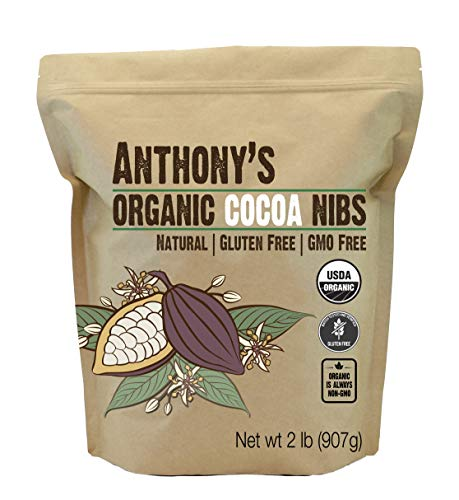 Anthony's Organic Cacao Cocoa Nibs, 2 lb, Batch Tested and Verified Gluten Free