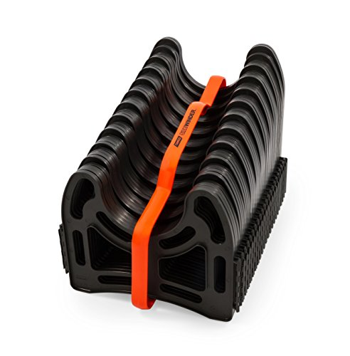 Camco 20ft (43051) Sidewinder RV Sewer Hose Support, Made From Sturdy Lightweight Plastic, Won't Creep Closed, Holds Hoses In Place - No Need For Straps