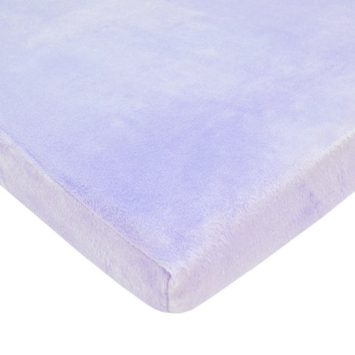 American Baby Company Heavenly Soft Chenille Fitted Portable/Mini-Crib Sheet, Lavender, for Girls