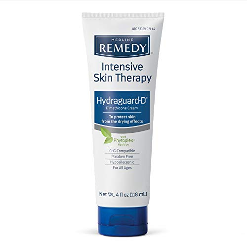 Medline Remedy Intensive Skin Therapy Hydraguard-D Silicone Barrier Cream, Nourishing and Soothing, 4 Ounce.