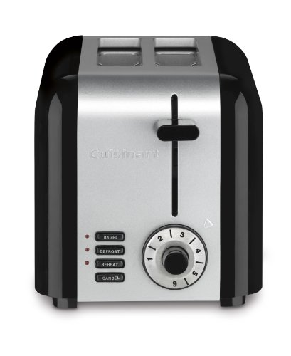 Cuisinart CPT-320P1 Compact Stainless 2-Slice Toaster, Brushed Stainless