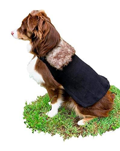ComfyCamper Winter Lord Dog Costume Fur Cloak, S