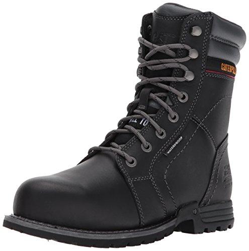 Caterpillar Women's Echo Waterproof Steel Toe Industrial and Construction Shoe, Black, 9.5 W US