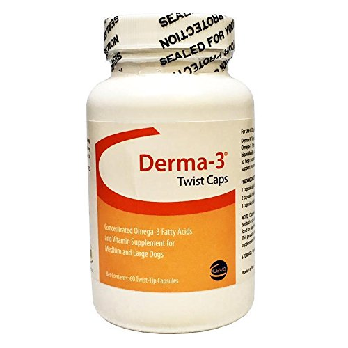 Derma3 Twist Caps for Large Dogs (60 TwistTips Capsules)