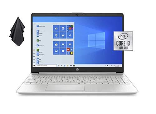 2021 Newest HP Pavilion 15.6' HD Non-Touch Laptop, Intel Dual-Core i3-1005G1 Up to 3.4GHz (Beats i5-7200u), 16GB DDR4 RAM, 256GB PCI-e NVMe SSD, 720P Webcam, WiFi, HDMI, Windows 10 S + Oydisen Cloth