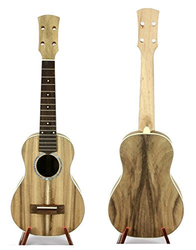 Alulu Solid Acacia Semifinished Ukulele Product Kit for Professional Luthier. 26 inch Tenor or 23 inch Concert. Accessory Including. Sub-assembly Product. (Acacia 23 inch Concert Ukulele)