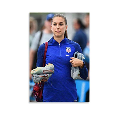 Alex Morgan Soccer Women Canvas Art Poster and Wall Art Picture Print Modern Family Bedroom Decor Posters 24x36inch(60x90cm)