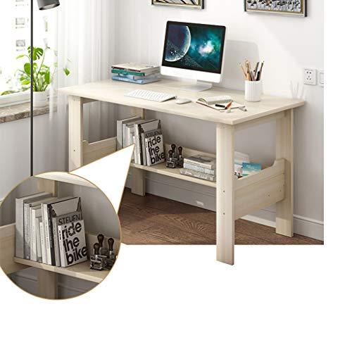 Computer Desk 39' Study Writing Table for Home Office, Modern Simple Style Computer Desk,Office Desk (White)