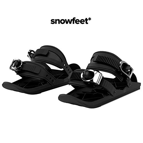 Snowfeet Mini Ski Skates for Snow The Short Skiboard Snowblades The Real Original