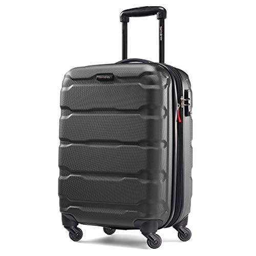 Samsonite Omni PC Hardside Expandable Luggage with Spinner Wheels, Black, Carry-On 20-Inch