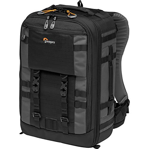 Lowepro LP37268-PWW Pro Trekker BP 350 AW II Outdoor Camera Backpack with Maxfit Dividers, Fits 15-inch Laptop/iPad, for Pro Mirrorless and DSLR, Gimbal, Drone, DJI, Black/Dark Grey