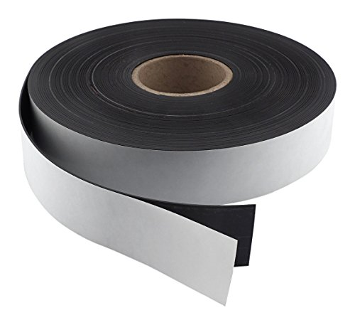 Master Magnetics Flexible Magnet Strip with Adhesive Back , 1/16' Thick, 1-1/2' Wide, 50 feet (1 Roll)