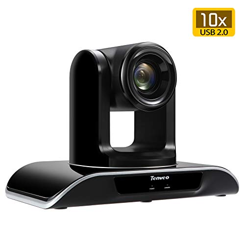 Tenveo Video Conference Camera 10X Optical Zoom Full HD 1080p USB PTZ Camera for Business Meetings (TEVO-VHD102U)