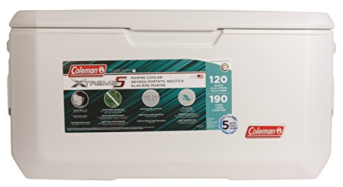 Coleman 120-Quart Xtreme 5 Marine Cooler Summer Family Escapade Coleman 120-Quart Xtreme 5 Marine Cooler Summer Family Escapade