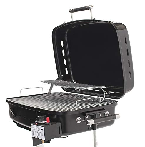 Flame King RV Or Trailer Mounted BBQ - Motorhome Gas Grill - 214 Sq Inch Cooking Surface - Adjustable Flame Controller, Black