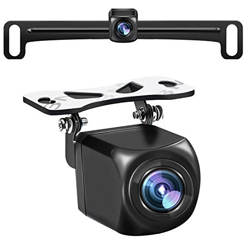 HD Backup Camera,Metal Housing 170 Degree Wide View Angle License Plate Rear View Camera for Car,Clear Night Vision IP69 Waterproof Rearview Camera Universal Reverse Cam Kit for Vehicle SUV RV Pickup
