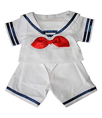 Sailor Boy w/Hat Outfit Teddy Bear Clothes Fits Most 14' - 18' Build-A-Bear and Make Your Own Stuffed Animals