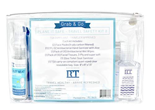 Travel Safety Kit II - OCD Air Travel Essentials - Germaphobe Travel Kit - Travel Size Kit - Air Travel Kit (Face Masks)