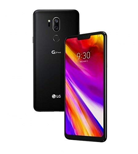 LG - G7 ThinQ for Verizon - 64GB - 6.1in QHD Display - Aurora Black - US Warranty (Renewed)