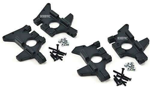 RPM Front & Rear Bulkhead Set Black For Traxxas T-maxx .15 2.5 3.3 / E-maxx