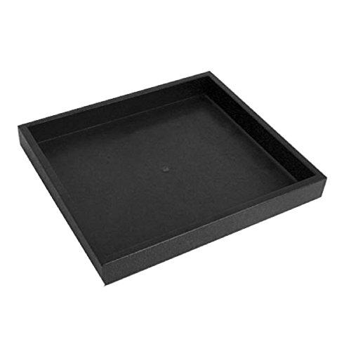 Half Size Black Stackable Plastic Tray 1'