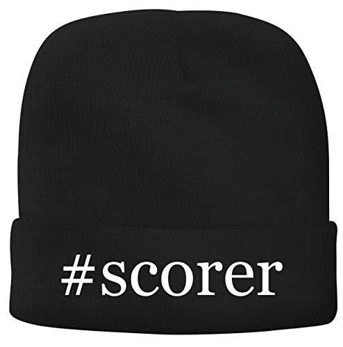 BH Cool Designs #Scorer - Men's Hashtag Soft & Comfortable Beanie Hat Cap, Black, One Size