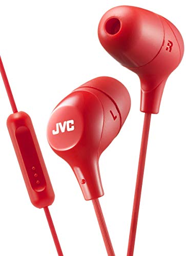 JVC Memory Foam Earbud Marshmallow Memory Foam Earbud with Mic Red (HAFX38MR)