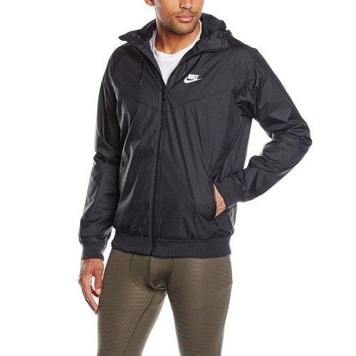 Nike Mens Windrunner Full Zip Hooded Running Jacket Black Large