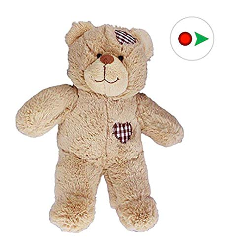 Recordable 8' Plush Brown Patches Bear w/20 Second Digital Recorder for Special Messages, Rymes or Songs