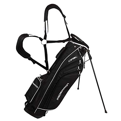 PROSiMMON Golf DRK 7' Lightweight Golf Stand Bag with Dual Straps Black/White