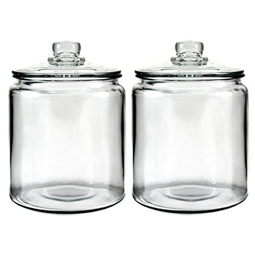 Anchor Hocking Heritage Hill Glass 0.5 Gallon Storage Jar, Set of 2