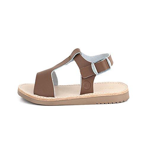 Freshly Picked - Malibu Little Girl Boy Leather Sandals - Size 6 Cognac Brown